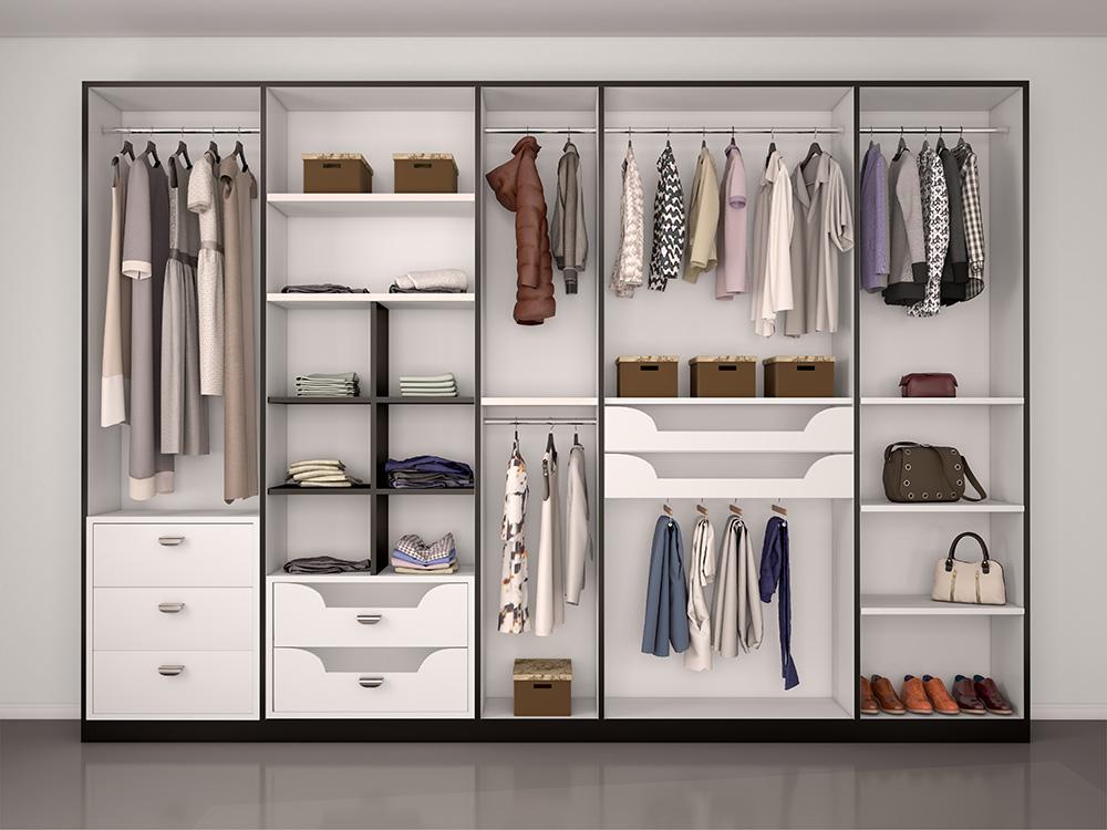 Custom closet organization